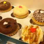 Six cupcakes from a huge variety available in the store!