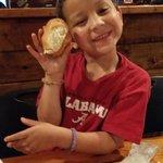 Elijah caught a roll!