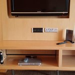 dvd player and big flat screen tv