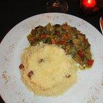 Cuscús con verduras- menú