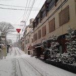 Snow in Yanaka.