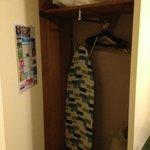 closet w/ironing board