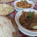 Yak and Yeti meat and vegetable dishes