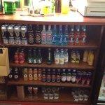 Well stocked bar!