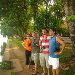 Front of our Villa, our Birdwatching team!!!