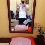 In the momo's hostel room