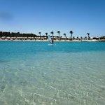 Piccola striscia di sabbia che si forma di fronte alla spiaggia