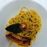 Salmon spicy pasta
