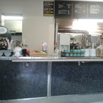 Clean and tidy servery