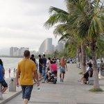 sanya beach beach walkway