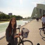 turia park bike ride through the park