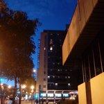 Vista del hotel, edificio Europa.