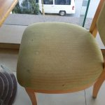 even chairs in dinning room stained
