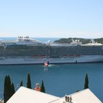 The cruise ship Regal Princess at Dubrovnik