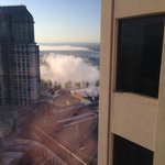My view of the falls from my room