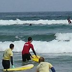 Surfing in Famara