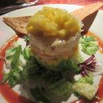 Crab and prawn salad