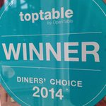 Diners Choice Award 2014