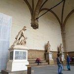 The statues at Loggia dei Lanzi