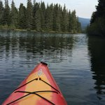 Kayaking the pristine waters of 2-mile long Bear Lake