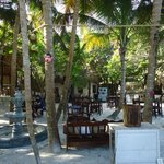 Charming restaurant and area to relax