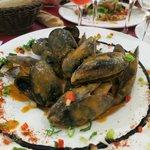L'entrée :moules à la sauce romesco...Un plaisir...: