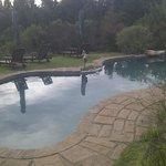 The pool set amongst the Fynbos