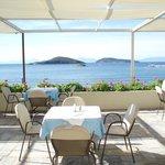 Outdoor breakfast terrace