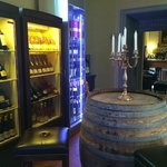 View in the hotel's wine library