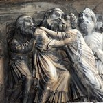 Détail du portail Abbatiale Saint Gilles