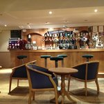 a small bar in the hotel