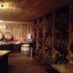 Authentic wine tasting room