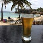 A beer at The Scooner bar