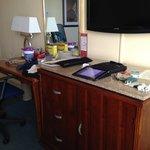 Desk-TV area in tower room