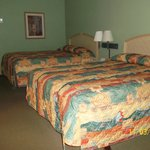 Queen beds in motel room