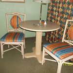 sitting area in motel room