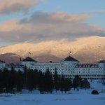 resort facade, winter