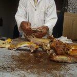 Mechoui Alley - Preparing my roasted lamb lunch