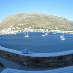 panoramique sur la baie depuis ma chambre