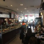 a busy Saturday morning. there is seating for many more downstairs & outside!