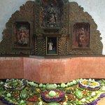 altar in hotel lobby
