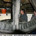 Brake wheel on the top floor
