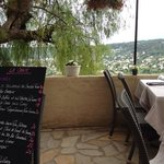Lunch menu with a view