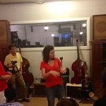 Local musician Lahna Deering delivers music history with enthusiasm!