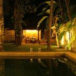 The outside of the villa- private garden
