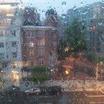 vista desde habitacion un dia de lluvia