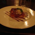 Tarte tatin of apple with cinnamon ice cream