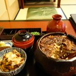 Grilled eel and rice set