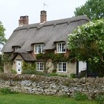 A typical thatched home seen during our tour