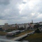 Вид на Набережную и причал с круизного лайнера